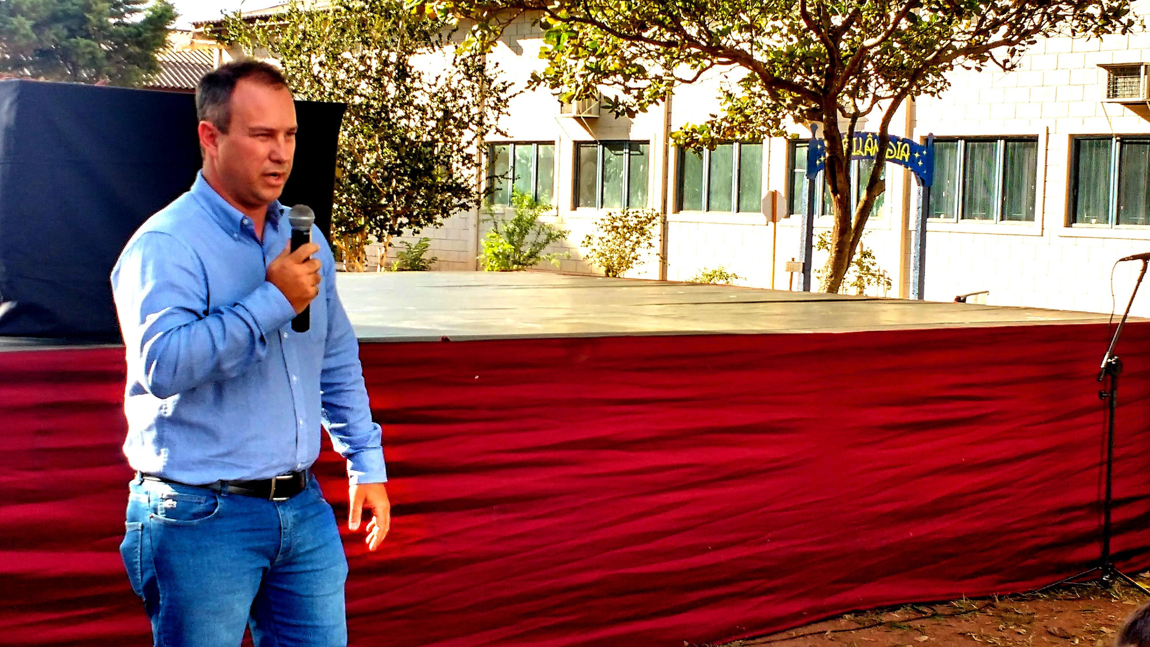 Representando a AES Tietê, Odemberg Veronez, reiterou parceria de sucesso com Ibitinga. | Foto: Polo Cultural